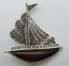 Schiff 925 Silber Brosche - 9.7.20