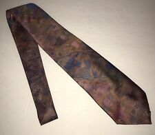 Editions Van Heusen Mens Neck Tie Polyester Pink Purple Gold Blue USA