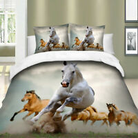 Animal Duvet Cover Set for Comforter Twin Full Queen King Size Bedding Set Horse