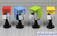 LEGO - 4x Gumball Candy Vending Machine Minifigure Food City Town 10196 10244