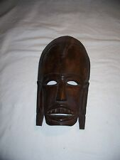 Carved Wood Face Mask Wall Plaque 12.5 inch