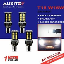 4x AUXITO T15 W16W CAR LED Back up Reverse Light Globes 6000k White Canbus