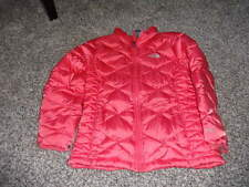 THE NORTH FACE GIRLS L/G 14/16 PINKISH ORANGE COAT GOOSE DOWN