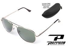 New Peppers Eyewear Quiet Storm Polarized Sunglasses Brown Emerald Green Mirror