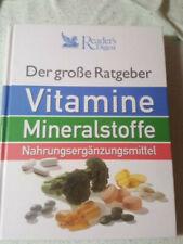 Reader's Digest, Der große Ratgeber, Vitamine, Mineralstoffe, Nahrungsergänzungs