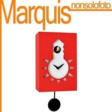 "Orologio a cucù FOSFORESCENTE art.116 ""Nigt & Day"" rosso carm. 3002 Pirondini"