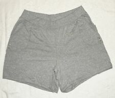 JMS Just My Size Plus 100% Cotton Jersey Pocket Shorts Light Steel 1X NEW
