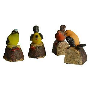 Der zwitschernde Bewegungsmelder Vogel Gartenfigur Vogelstimmen Spatzen Natur