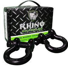 "RHINO USA - 3/4"" Shackles - 2 Pack - Unbreakable (47,500 Lb) D Ring Shackel"