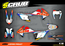 KTM graphics EXC decals 125 250 300 350 450 500 2017 -2018 Enduro '17 -'18 SCRUB