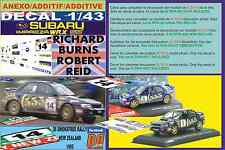 ANEXO DECAL 1/43 SUBARU IMPREZA 555 R.BURNS R.NEW ZEALAND 1995 DnF (01)