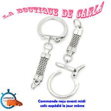 Lot 1 à 50 ATTACHES PORTE CLE  anneaux clip DIY  mousqueton attache porte-clef