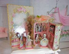 Doll Theater. (1.97 in.) Paper theater. Vintage theater-box with dolls.