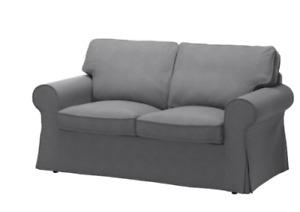 Ikea Ektorp Loveseat 2-Seat Sofa Slipcover Cover Nordvalla Dark Gray 703.223.23