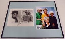 Estelle Getty Facsimile Signed 16x20 Framed Photo Display w/ Golden Girls Cast