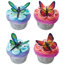 Butterfly and Dragonfly cake topper picks cupcake (12) from Decopac dozen