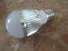 4 AMPOULES LED E27 globe 220V 4w cool white ECONOMIQUE 6000-6500K 300lm blanc