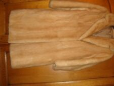 genuine real mink vintage fur coat honey blonde wedding party stunning medium