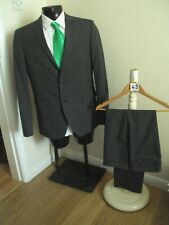 "Suit chest 40R waist 34S By Primark in grey two button jacket L29""(145)"