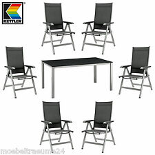garten garnituren sitzgruppen aus aluminium mit 7 teilen g nstig kaufen ebay. Black Bedroom Furniture Sets. Home Design Ideas