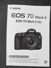 Canon Genuine Eos 7D Mark Ii Camera Instruction Book / Manual / User Guide
