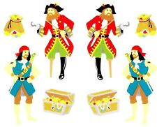 Pirate Pirates Treasure Chest Hook Gold Gems Parrot Mrs Grossman Stickers