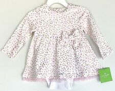 Kate Spade Pink And Gold Spot Dress With Bodysuit NWT Retail $48 Price $38 9M