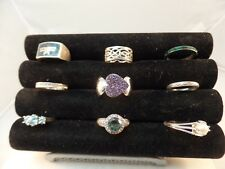 925 STERLING SILVER MISCELLANEOUS RINGS LOT OF 9  VARIOUS SIZE  # S 1466