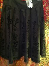 DRAMATIC SKIRT BY NEXT SIZE 8, BLACK WITH FLOCK DETAIL. NEW. Very Classy, Cotton