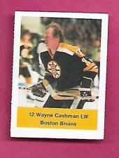 RARE 1974-75 LOBLAWS BRUINS WAYNE CASHMAN  STICKER (INV# C0299)