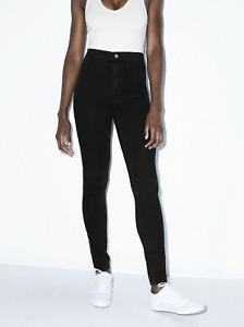 American Apparel Women's The Easy Jean, Black, M, Medium, NWT Free Shipping