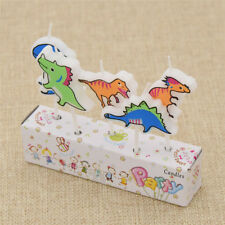 5x Dinosaur Birthday Candles Party Cake Topper Cartoon Cute Animal Home Supplies