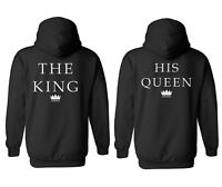 King Queen Couple Valentine Cool Men Women Unisex Top Hoodie Sweatshirt 1743-44