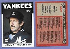 1986 Topps #651 Billy Mattin Yankees Mgr Lot of 2 cards in Near Mint Condition