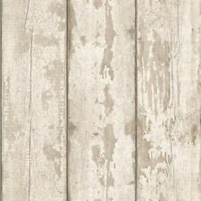 Arthouse - Rustic White Washed Wood Faux Plank Panel Feature Wallpaper - 694700