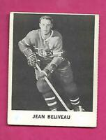 RARE 1965-66 COCA COLA CANADIENS JEAN BELIVEAU  CARD (INV# C4123)
