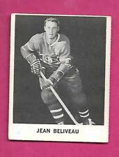 RARE 1965-66 COCA COLA CANADIENS JEAN BELIVEAU  CARD (INV# C4123)