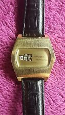 VINTAGE GRUEN JUMP HOUR DIGITAL AUTOWIND AUTOMATIC WATCH MENS RONDA MATIC Rare!!