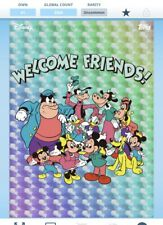 Topps Disney Collect-Retro Mickey & Friends Die-Cut Complete Set + Award