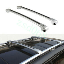 2x For Cadillac SRX 10-16 Black+Silvery Roof Rack Luggage Carrier Baggage Holder