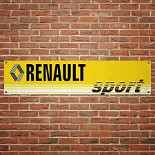 Renault Sport Banner Garage Workshop PVC Sign Trackside Display Clio Cup V3