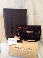 LOUIS VUITTON AMARANTE DARK PURPLE VERNIS RODEO DRIVE HANDBAG, NEW+RECEIPT