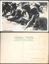 Argentina Chaco Indians old real photo PC pre 1940. Jugando A la Pinta