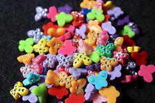 mixed butterfly cabochon beads - jewellery making - novelty beads - embellishmen