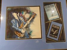 STEVIE RAY VAUGHAN 1986 Framed picture, all access pass, working pass