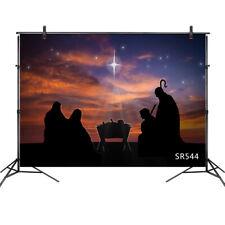 7x5FT Christ Jesus Nativity Scene Backdrop Background Photography Vinyl Props
