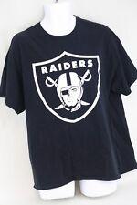 Oakland CA Raiders NFL Gildana Pepsi Mens Black Short Sleeved T Shirt Size XL