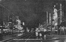 Scranton Pa~Lackawanna Avenue White Way~Nite Lights~Fritz Crane~Lauer Marks~1908
