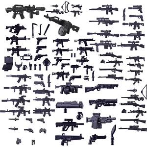 Custom Modern Army Weapons compatible with Lego SWAT MOC Bulk Pack - UK STOCK -