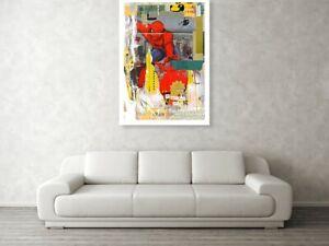Motiv Spiderman Collage XXL 122x86 cm Acrylglas 5 mm Pop Art/Druck/StreetArt